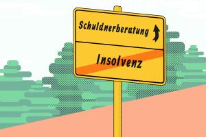 Ziel der Schuldnerberatung: Auch ohne Insolvenz kann der Schuldenabbau glücken.